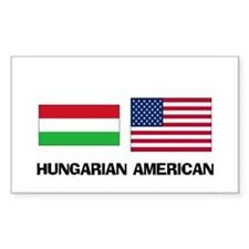 Hungarian American Rectangle Decal