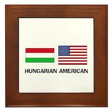 Hungarian American Framed Tile