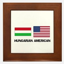 Hungarian American Framed Tile
