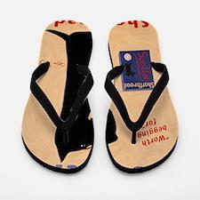 Scottie Shortbread Flip Flops
