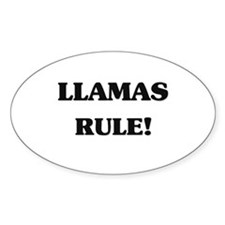 Llamas Rule Oval Decal