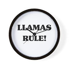Llamas Rule Wall Clock