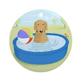 Summer dog Round Ornaments