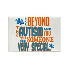 Look Beyond 1.3 (AUTISM) Rectangle Magnet (100 pac