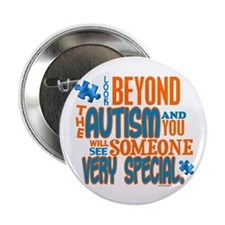 """Look Beyond 1.3 (AUTISM) 2.25"""" Button"""