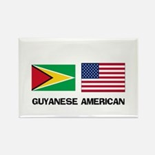 Guyanese American Rectangle Magnet