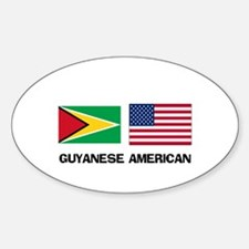 Guyanese American Oval Decal