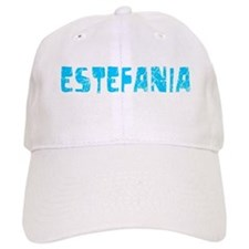Estefania Faded (Blue) Baseball Cap