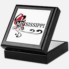 Heart Mississippi Keepsake Box