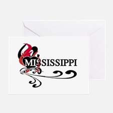 Heart Mississippi Greeting Card