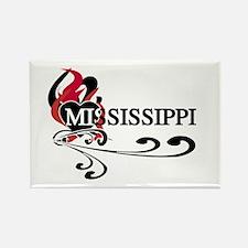Heart Mississippi Rectangle Magnet