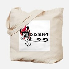 Heart Mississippi Tote Bag