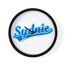 Retro Sydnie (Blue) Wall Clock