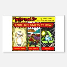 Earth Day starts at home Rectangle Sticker 10 pk)