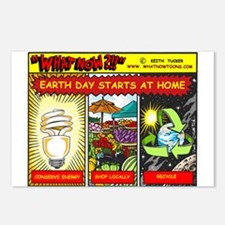Earth Day starts at home Postcards (Package of 8)