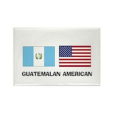 Guatemalan American Rectangle Magnet