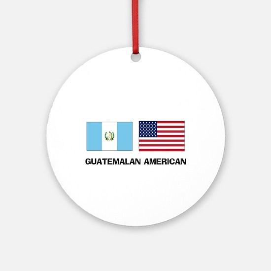 Guatemalan American Ornament (Round)