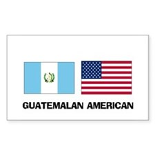 Guatemalan American Rectangle Decal