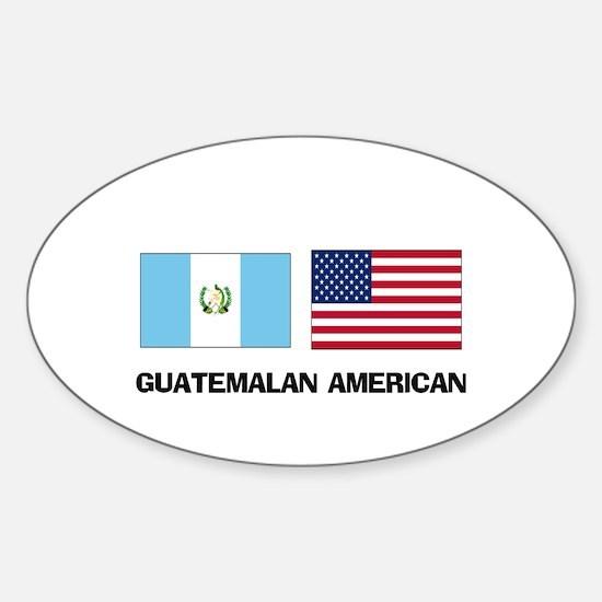 Guatemalan American Oval Decal