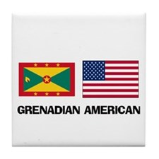Grenadian American Tile Coaster