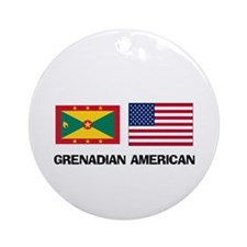 Grenadian American Ornament (Round)