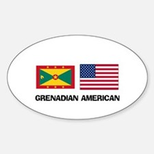 Grenadian American Oval Decal