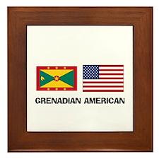 Grenadian American Framed Tile