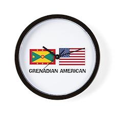 Grenadian American Wall Clock