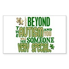 Look Beyond 1.5 (AUTISM) Rectangle Sticker 10 pk)