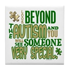 Look Beyond 1.5 (AUTISM) Tile Coaster