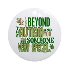 Look Beyond 1.5 (AUTISM) Ornament (Round)