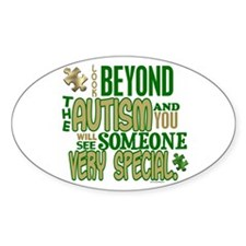 Look Beyond 1.5 (AUTISM) Oval Decal