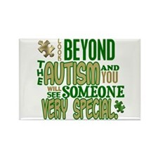 Look Beyond 1.5 (AUTISM) Rectangle Magnet
