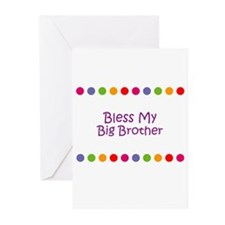 Bless My Big Brother Greeting Cards (Pk of 10)