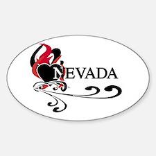 Heart Nevada Oval Decal