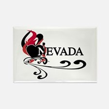 Heart Nevada Rectangle Magnet