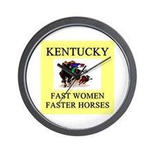 kentucky derby gifts t-shirts Wall Clock