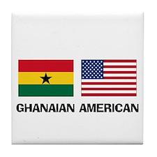 Ghanaian American Tile Coaster