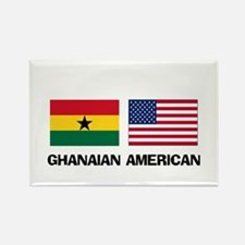 Ghanaian American Rectangle Magnet