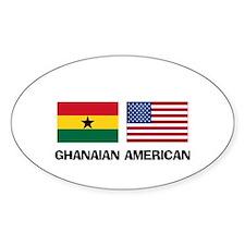 Ghanaian American Oval Decal