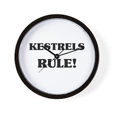 Kestrels Rule Wall Clock