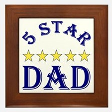 5 Star Dad Framed Tile