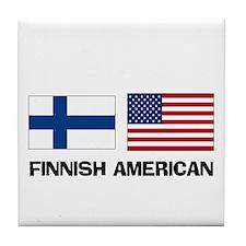 Finnish American Tile Coaster