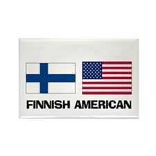 Finnish American Rectangle Magnet (10 pack)