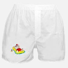 Sunbathing Santa Boxer Shorts