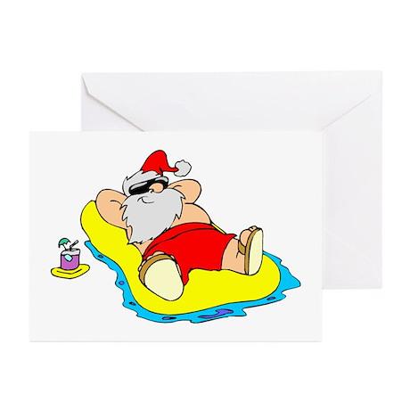 Sunbathing Santa Greeting Cards (Pk of 10)