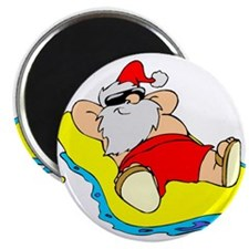 Sunbathing Santa Magnet