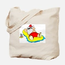 Sunbathing Santa Tote Bag
