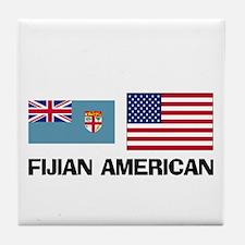 Fijian American Tile Coaster