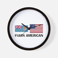 Fijian American Wall Clock